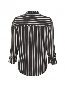 One Two Luxzuz Kresti stripe top - Caviar