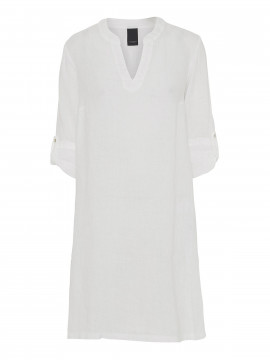 One Two Luxzuz Kathlin linnen dress 3/4 - White