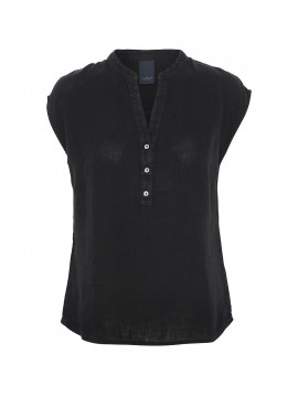 One Two Luxzuz Kika linnen top - Black