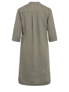 One Two Luxzuz Kimi linnen dress - Army