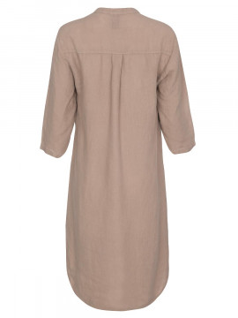 One Two Luxzuz Kimi linnen dress - Cinnamon