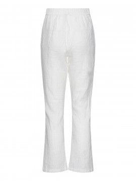 One Two Luxzuz Botelle linnen pant - Cream white