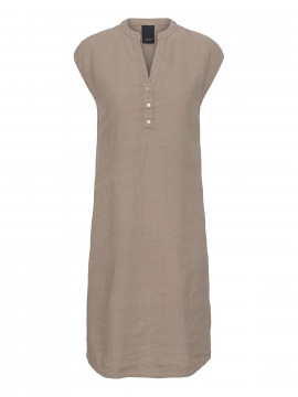 One Two Luxzuz Kikari linnen dress - Cinnamon