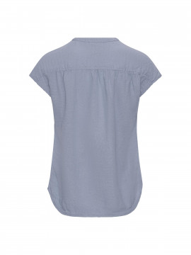 One Two Luxzuz Bonna linnen top - Vintage blue