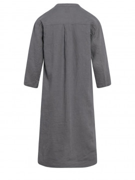 One Two Luxzuz Kirta linnen dress - Slate grey