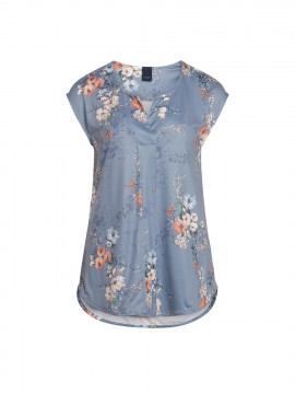 One Two Luxzuz Ingradia S/S top - Vintage blue