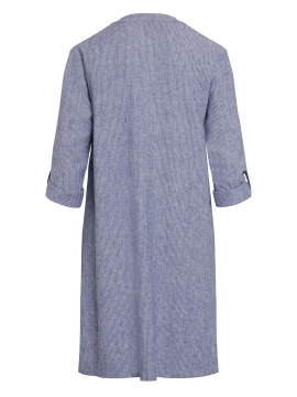One Two Luxzuz Kathlin 3/4 narrow stripe dress - Indigo blue