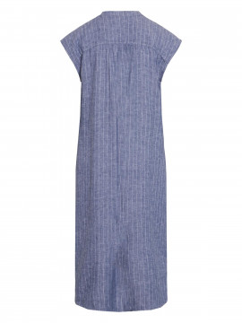 One Two Luxzuz Kikari stripe dress - Indigo blue