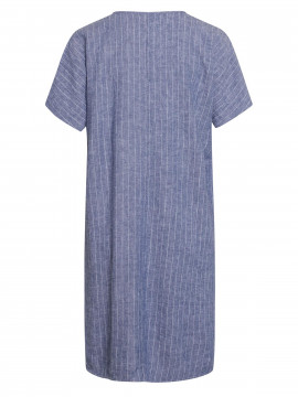 One Two Luxzuz Helliana S/S stripe dress - Indigo blue