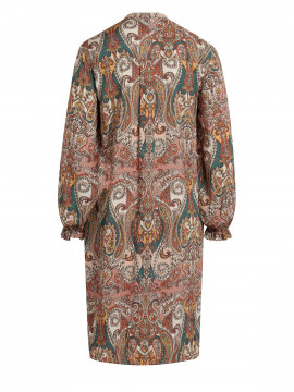 One Two Luxzuz Raquel paisley dress - Peacan brown
