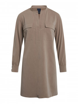 One Two Luxzuz Sessa shirt dress - Champignon