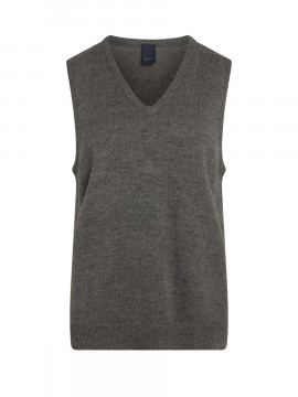 One Two Luxzuz Taia knit vest - Medium grey melange