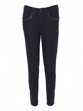 Jonny Q Terry tech stretch - Denim blue & Strass