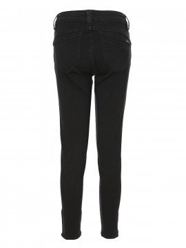 Jonny Q Terry tech 7/8 stretch jeans - Black denim