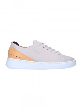 Lacoste Eyyla nappa leather trainers - Light grey