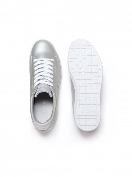 Lacoste Carnaby evo metallic finish trainers - Light grey
