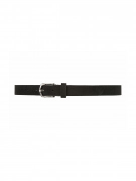 Depeche Kia suede narrow belt - Black