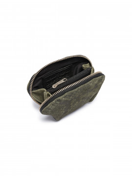 Depeche Snake purse - Leaf green