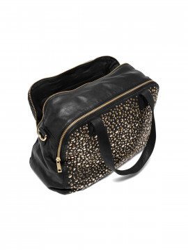 Depeche Nadia studs medium bag - Black / gold