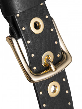 Depeche Mocca studs belt - Black/gold