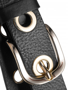 Depeche Siri wide belt - Black/gold