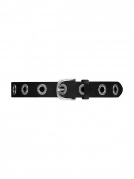Depeche Siri wide belt - Black/silver