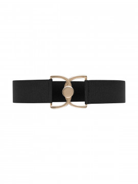 Depeche May elastic belt - Black/gold