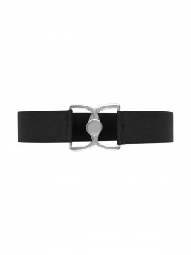 Depeche May elastic belt - Black/silver
