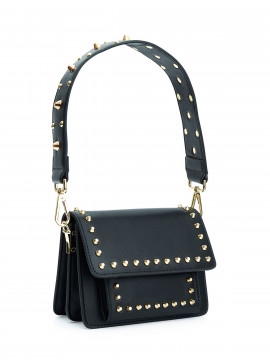 the Rubz Scarlett large plain studs bag - Black