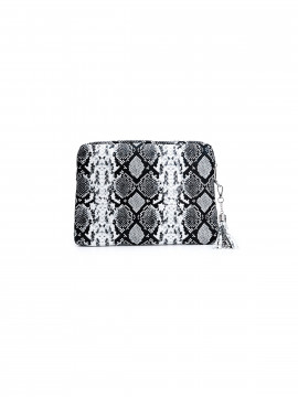 the Rubz Cindy small snake crossbody - Black / white