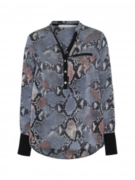 Costamani Astrid snake shirt - Blue/Black