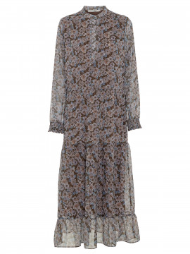 Costamani Sophia flower long dress - Purple