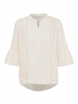 Costamani Bea Lurex dot top 3/4 - Offwhite
