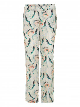 Costamani Alda flower pant - Offwhite