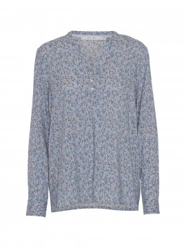 Costamani Alexia flower L/S top - Blue/white