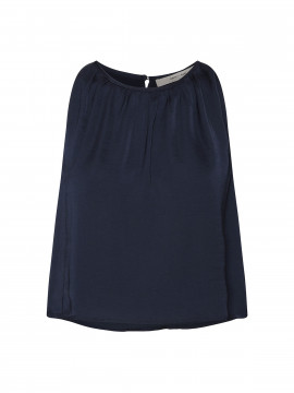Costamani Recycle plizze top - Navy