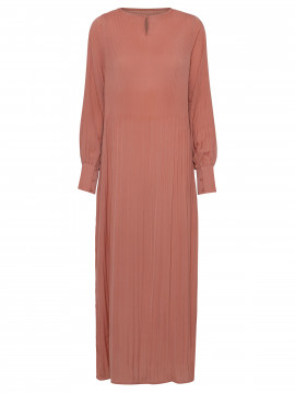 Costamani Recycle plizze long dress - Dusty rose