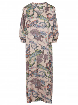 Costamani Spot paisley long dress - Off white