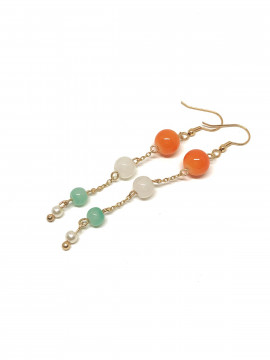 by Bram Color pearl earrings - Orange