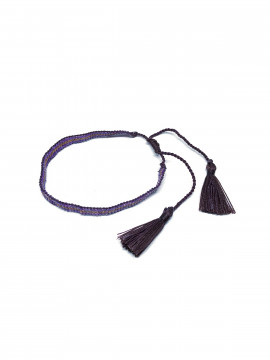 by Bram Pearl tassel bracelet - Purple