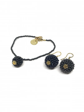 by Bram Set of jewelry - Dark grey