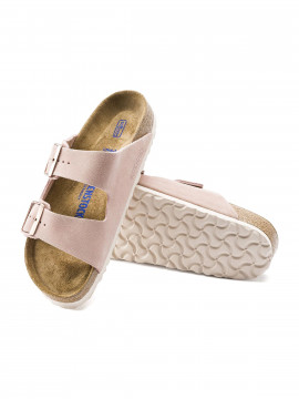 Birkenstock Arizona suede sandal narrow - Light rose