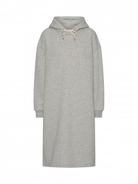 Costamani Logo sweat dress - Grey melange