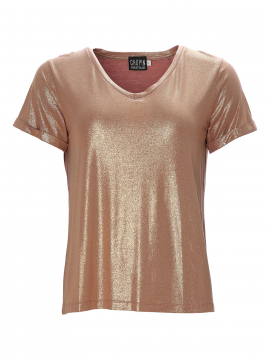 Chopin Felicia Gold V-neck tee - Winter rose