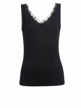 Eves Simi lace top - Black