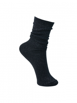 Black Colour Lurex sock - Dark grey