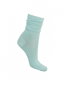 Black Colour Lurex sock - Aqua